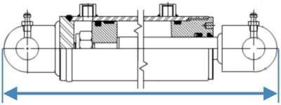 Rod Cylinder Overall Length Diagram